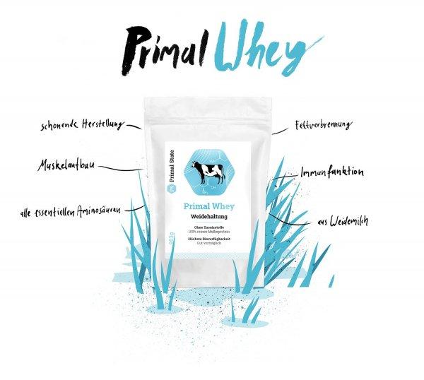 Primal Whey Zusammensetzung und Vorteile